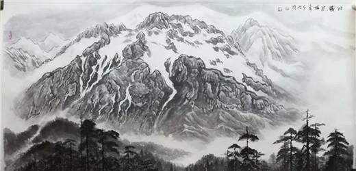笔精墨妙大美雪山——评毛君周老师的青藏雪山画